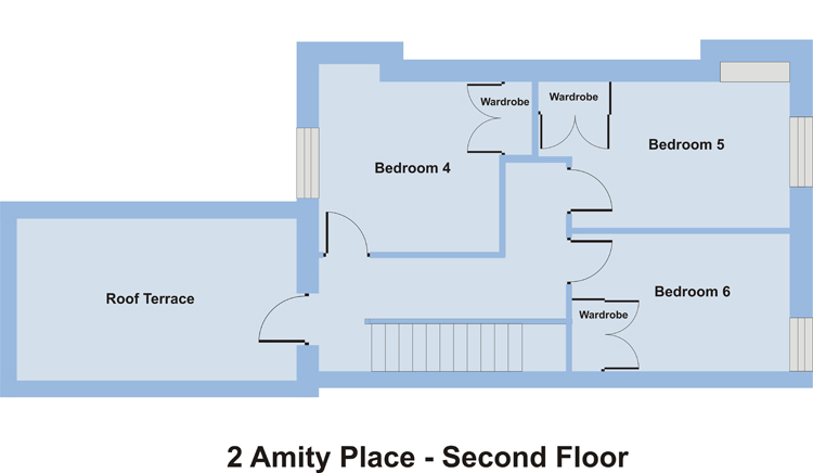 2 Amity Place - Second Floor