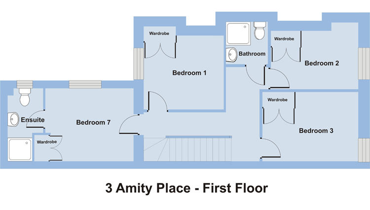 3 Amity Place - 7 Bedroom Student Accommodation Plymouth - Floor Plan
