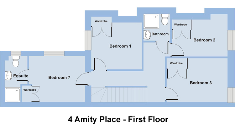 4 Amity Place - 7 Bedroom Student Accommodation Plymouth - Floor Plan