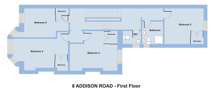 8 Addison Rd - 8 bedroom student accommodation in Plymouth - Floor plan