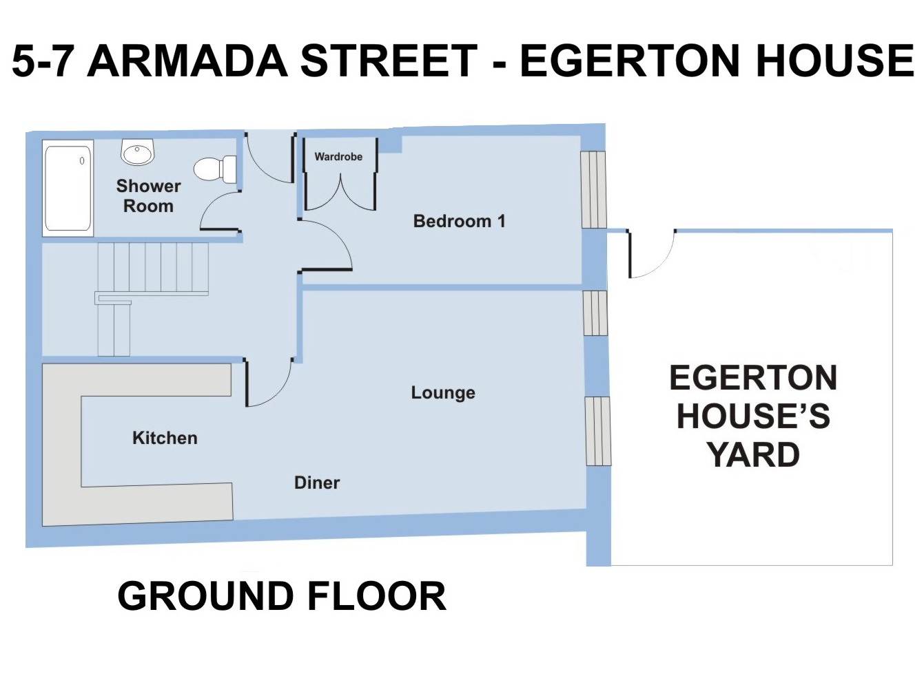 Egerton House, 5-7 Armada Street - 6 bedroom student accommodation Plymouth - Floor plan