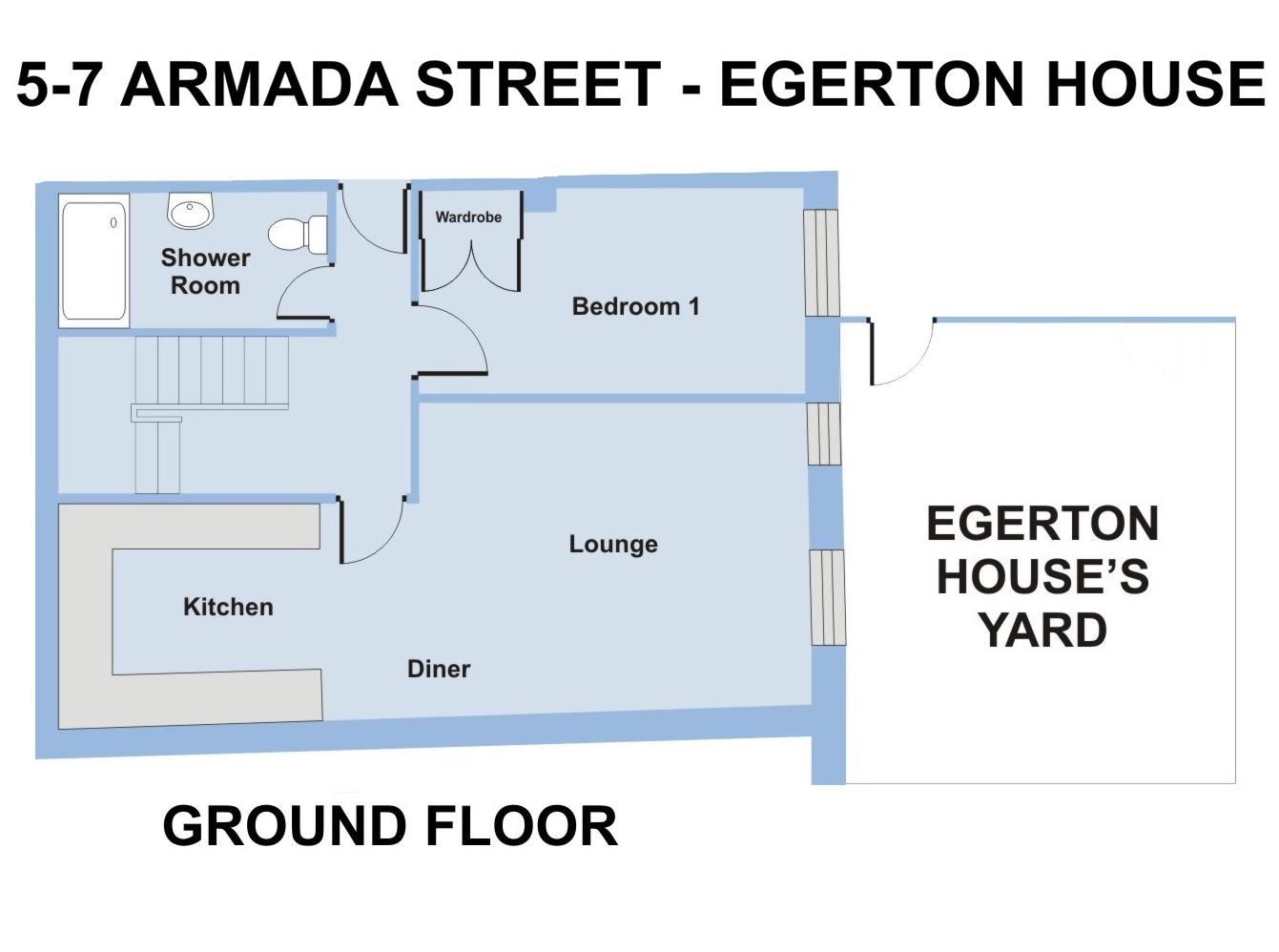 Egerton House, 5-7 Armada Street - 6 bedroom student accommodation Plymouth - Floor plan