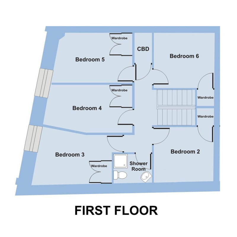 Francis House, 5-7 Armada Street - 6 bedroom student accommodation Plymouth - Floor plan