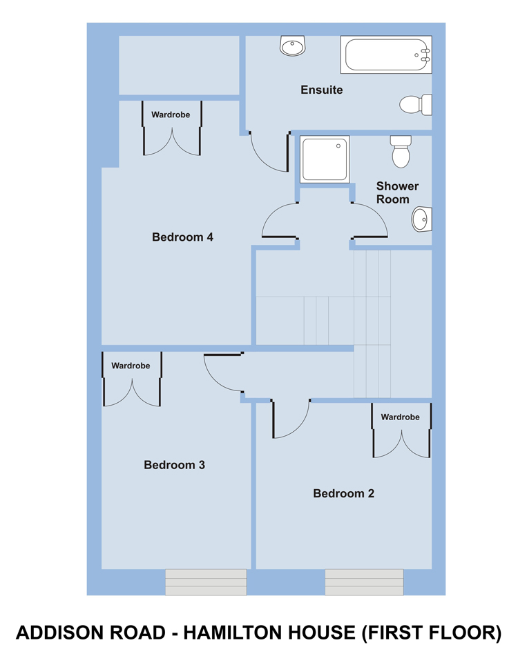 Hamilton House, 25 Addison Rd - 6 bedroom student accommodation Plymouth - Floor plan