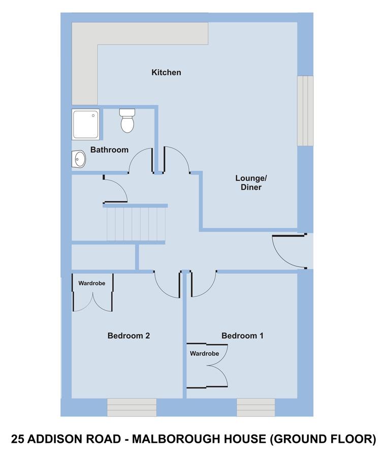 Marlborough House, 25 Addison Road - Floor Plan