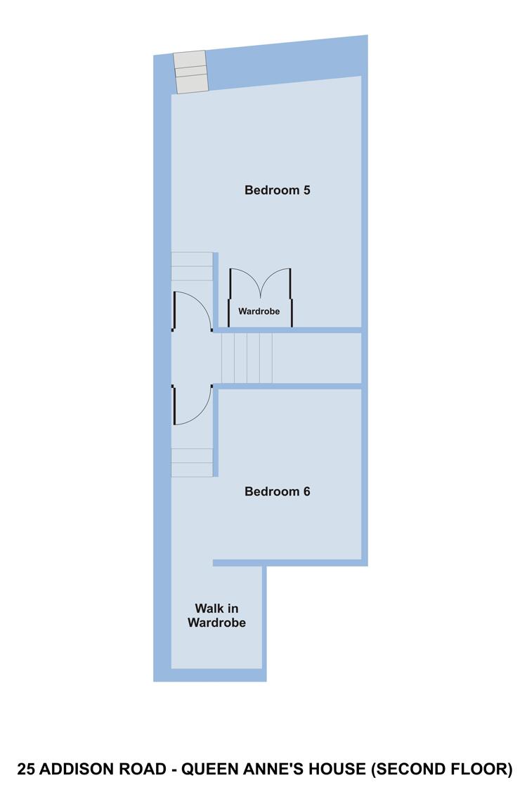 Queen Anne House - Floor Plan