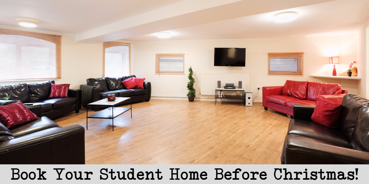 book your student home before christmas